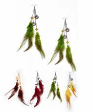 Dangle Earrings Feathers - IME12035