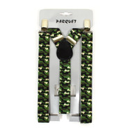 Boy's Y-Back Camo Adjustable Elastic Clip-on Suspenders BSCS1071-13