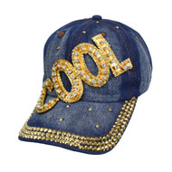 "Bling Studs ""Cool"" Denim Cap"