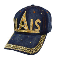 "Bling Studs ""Paris"" Denim Cap"