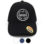 #1 Grandpa Embroidered Baseball Cap