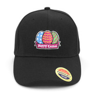 Easter Egg Black Embroidered Baseball Cap (BCC121015ETE)