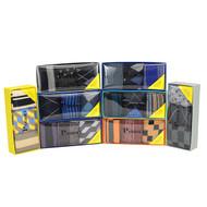 24pc Assorted Mens Dress Socks Gift Box Sets (3 pairs per pc)
