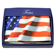 Bi-Fold Genuine Leather American Flag Wallet MGLW-F