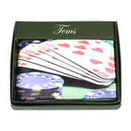 Bi-Fold Genuine Leather Playing Cards Wallet MGLW-C