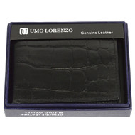 Bi-Fold Genuine Leather Black Wallet CCG786BK