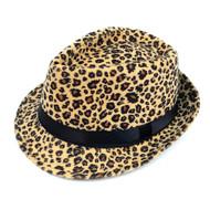 6pc Men's Leopard Fall/Winter Fedora Hat H0612
