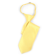 "Boy's 14"" Yellow Grid Zipper Tie MPWZ14-19"