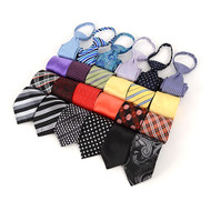 "24pc Assorted Boy's 14"" Micro Woven Zipper Ties MPWZ14ASST"