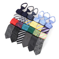 "24pc Assorted Boy's 17"" Micro Woven Zipper Ties MPWZ17ASST"