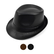 6pcs Two Sizes Fall/Winter Leather Fedora Hat - H0703