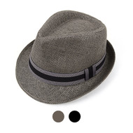 Spring/Summer Fedora Hat with Band Trim - H10208