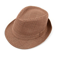 Fall/Winter Hounds Tooth Brown Fedora Hat - H10334N
