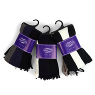 12pc Assorted Pack Scottish Acrylic Winter Scarf - AKS10412ASST