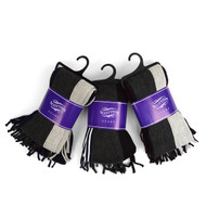 12pc Assorted Pack Scottish Acrylic Winter Scarf - AKS10417ASST