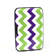 12pc Pack Card Guard Aluminum Compact Wallet Credit Card Holder with RFID Protection - Zigzag