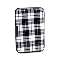 12pc Pack Card Guard Aluminum Compact Wallet Credit Card Holder with RFID Protection - Plaid