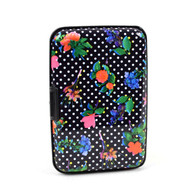 12pc Pack Card Guard Aluminum Compact Wallet Credit Card Holder with RFID Protection - Flower
