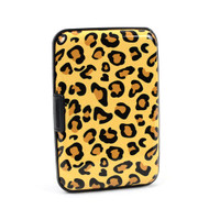 12pc Pack Card Guard Aluminum Compact Wallet Credit Card Holder with RFID Protection - Leopard