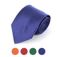 Pin Dots Microfiber Poly Woven Tie - MPW5702