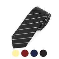 "Striped Microfiber Poly Woven 2.25"" Slim Tie - MPWS5725"