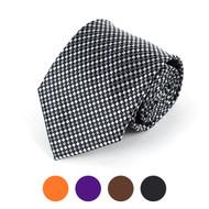 Checkered Microfiber Poly Woven Tie - MPW5704