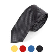 "Dotted Microfiber Poly Woven 2.25"" Slim Tie - MPWS5708"