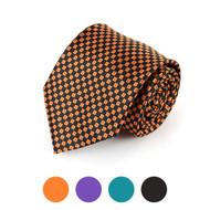 Checkered Microfiber Poly Woven Tie - MPW5710