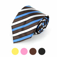 Striped Microfiber Poly Woven Tie - MPW5718