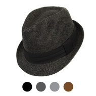 6pcs Two Sizes Fall/Winter Poly/Cotton Westend Fedora Hats H10336