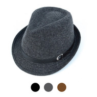 6pcs Two Sizes Fall/Winter Poly/Cotton Westend Fedora Hats H10332