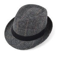6pcs Two Sizes Fall/Winter Gray Westend Fedora Hats H10371-GRY