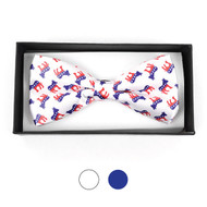 Men's Democrat Donkey Banded Bow Tie