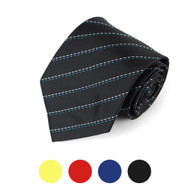 Striped Microfiber Poly Woven Tie - MPW5716