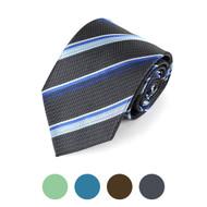 Striped Microfiber Poly Woven Tie - MPW5721