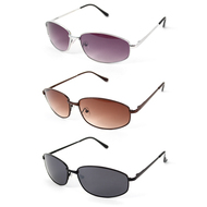 12pc. Unisex 3 Colors Classic Metal Sunglasses MS006