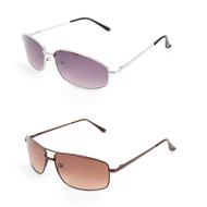 12pc. Unisex 2 Styles Classic Metal Sunglasses MS005