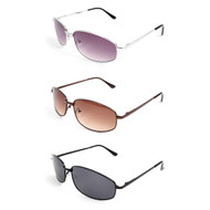 12pc. Unisex 3 Colors Classic Metal Sunglasses MS002