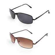 12pc. Unisex 2 Colors Long-Winged Bridge Metal Sunglasses MS004