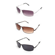 12pc. Unisex 3 Colors Winged Bridge Metal Sunglasses MS003