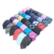 72pc Random Assorted Microfiber Poly Woven Slim Ties MPWS72ASST