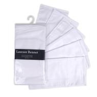 Men's Plain White 6pcs Handkerchiefs HTC006