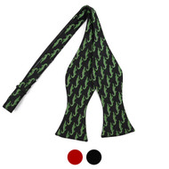 Men's Alligator Self-Tie Freestyle Bow Tie