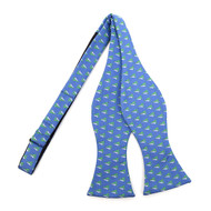 Men's Blue Sailor Boat Self-Tie Freestyle Bow Tie (FBMP10025)