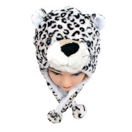6pc Pre-Pack Animal Fleece Hats - Snow Leopard HATCW111354