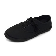 18pcs Women's Canvas Flat Black Casual Shoes Sneakers