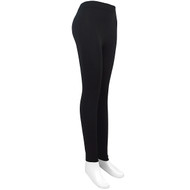 12pc Ladies Footless Solid Black Leggings- L1000