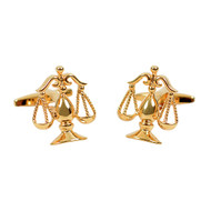 Gold Law Justice Symbol Novelty Cufflinks NCL1704