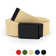 12pc Size Assorted Men's Flip-To Buckle Military Style Canvas Belt MILB1301