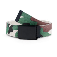 12pc Size Assorted Men's Flip-To Buckle Military Camo Canvas Belt MILB3302